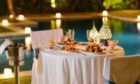 Pool Side Dining - Nyaman Villas - Seminyak, Bali