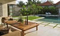Pool Side Seating Area - Nyaman Villas - Seminyak, Bali