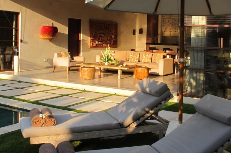 Reclining Sun Loungers - Nyaman Villas - Seminyak, Bali