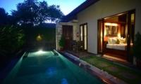 Pool at Night - Nyuh Bali Villas - Seminyak, Bali