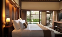 Pool Side Bedroom with TV - Nyuh Bali Villas - Seminyak, Bali