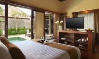 Bedroom with TV - Nyuh Bali Villas - Seminyak, Bali