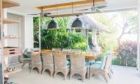 Indoor Dining Area with View - Opera Villa - Nusa Lembongan, Bali