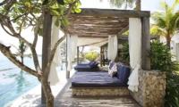 Pool Side Loungers with Sea View - Opera Villa - Nusa Lembongan, Bali
