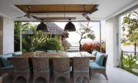 Indoor Dining Area with Sea View - Opera Villa - Nusa Lembongan, Bali