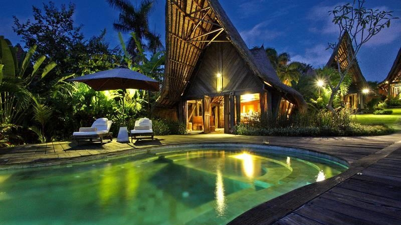 Swimming Pool at Night - Own Villa - Umalas, Bali