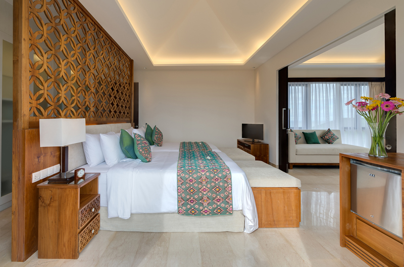 Twin Bedroom with TV - Pandawa Cliff Estate Villa Pala - Ungasan, Bali