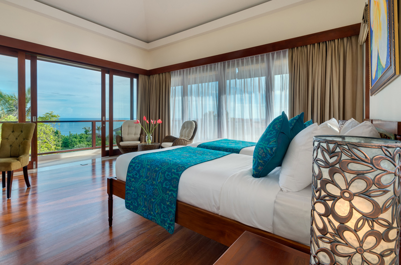 Twin Bedroom with Sea View - Pandawa Cliff Estate Villa Rose - Ungasan, Bali