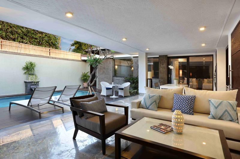 Living Area with Pool View - Peppers Seminyak - Seminyak, Bali