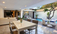 Living and Dining Area with Pool View - Peppers Seminyak - Seminyak, Bali