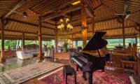 Living Area with Piano - Permata Ayung Royal Winongpati - Ubud, Bali