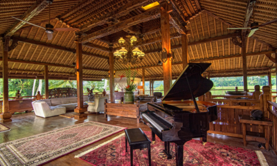Living Area with Piano - Permata Ayung Royal Winongpati - Ubud, Bali
