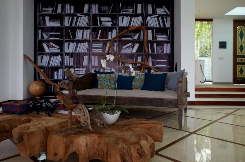 Seating Area near Book Shelf - Pure Villa Bali - Canggu, Bali