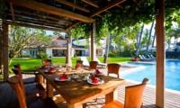 Pool Side Dining - Puri Nirwana - Gianyar, Bali