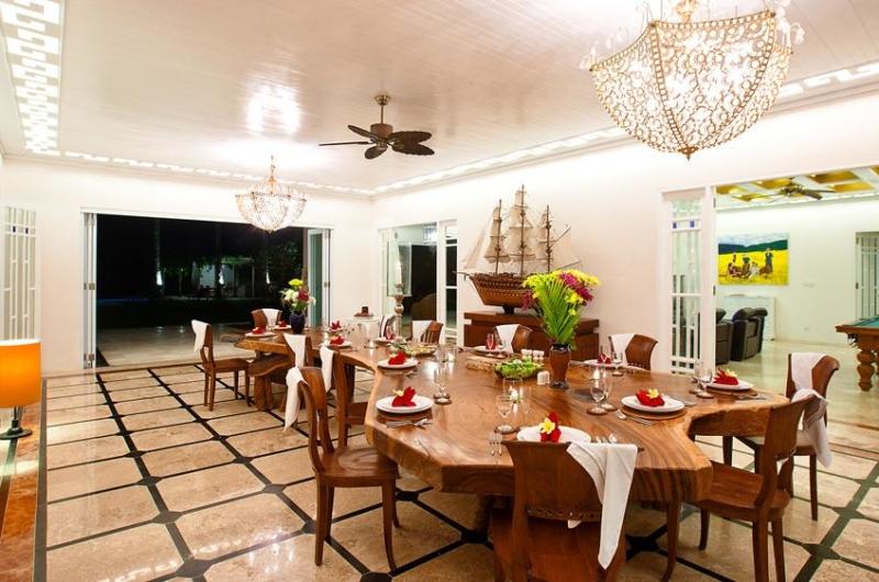 Dining Area with View at Night - Puri Nirwana - Gianyar, Bali