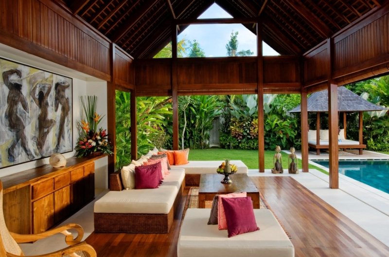 Living Area with Pool View - Saba Villas Bali - Canggu, Bali