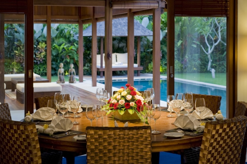 Dining Area with Pool View - Saba Villas Bali - Canggu, Bali