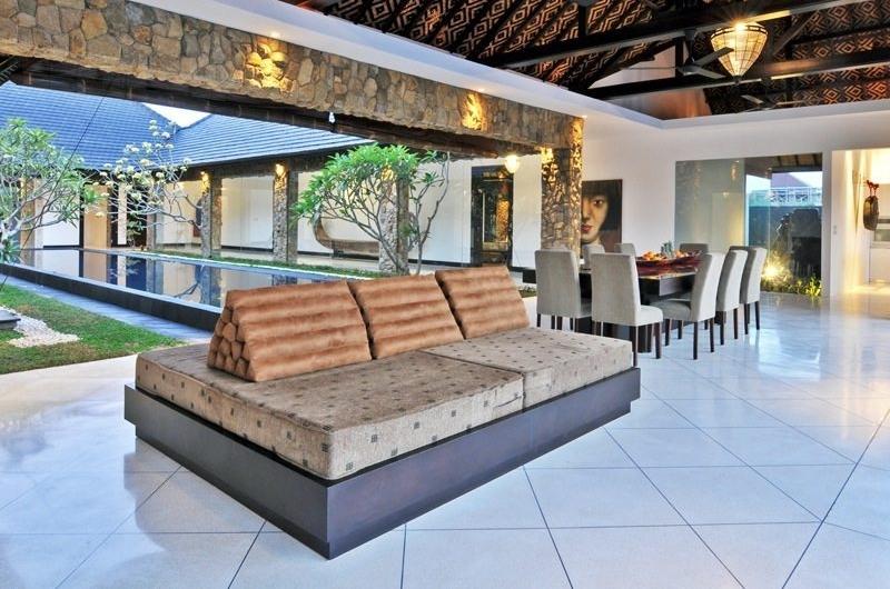 Indoor Living and Dining Area - Samudra Raya Villa - Kerobokan, Bali