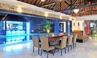Pool Side Dining - Samudra Raya Villa - Kerobokan, Bali
