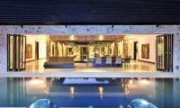 Pool Side Living and Dining Area - Samudra Raya Villa - Kerobokan, Bali