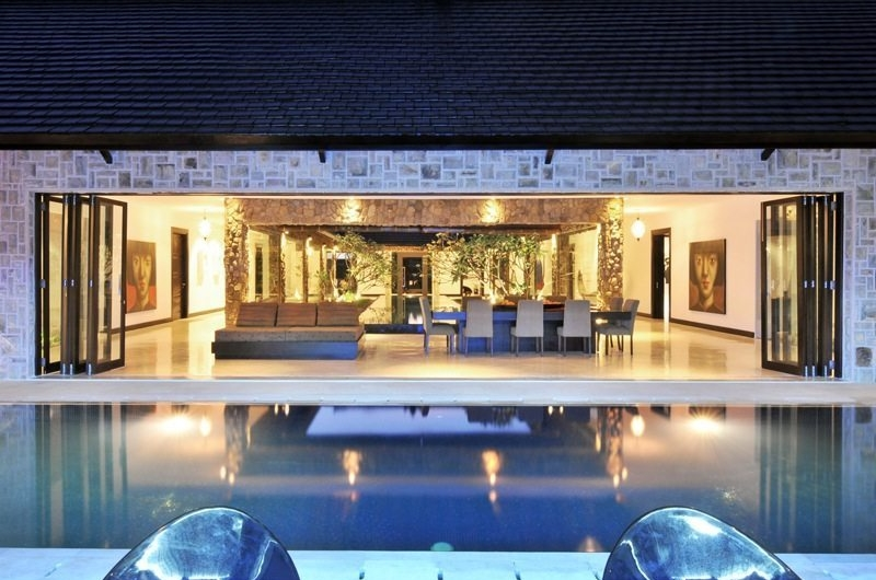 Pool Side Living and Dining Area - Samudra Raya Villa - Kerobokan, Bali