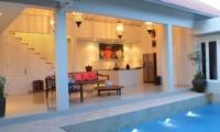 Living Area with Pool View - Santai Villa - Batubelig, Bali