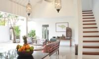 Living Area with Up Stairs - Santai Villa - Batubelig, Bali