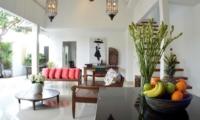 Indoor Living and Dining Area - Santai Villa - Batubelig, Bali