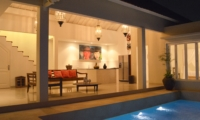 Pool at Night - Santai Villa - Batubelig, Bali