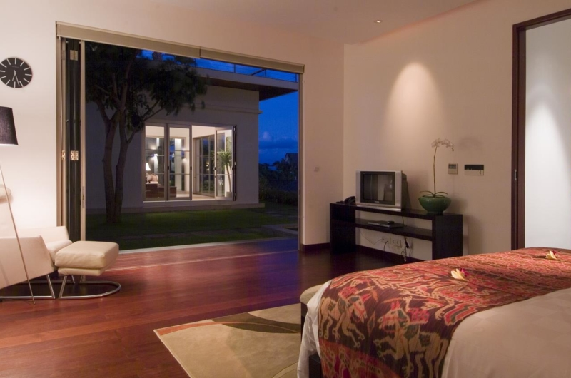 Bedroom with View at Night - Sanur Residence - Sanur, Bali