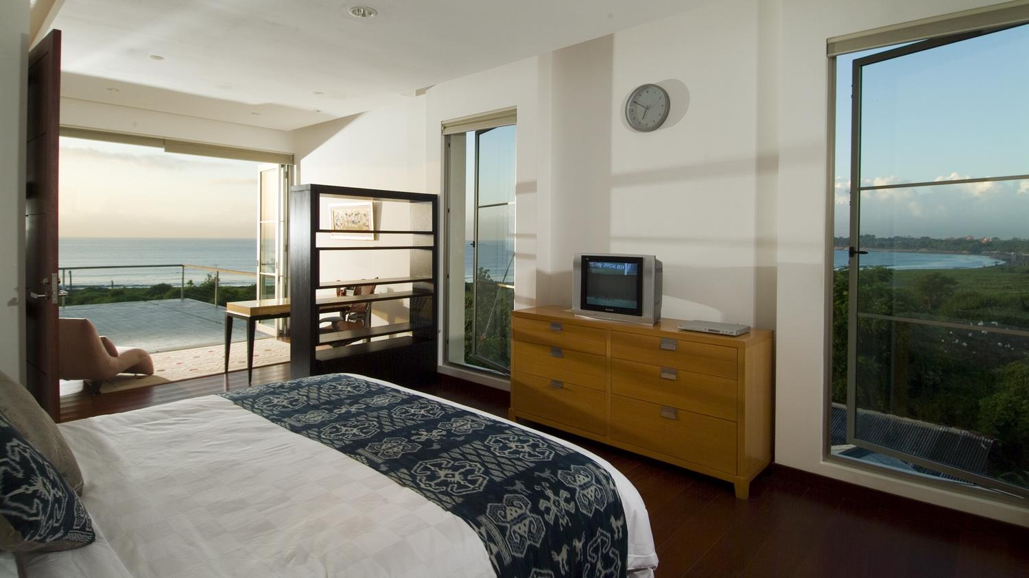 Bedroom with TV and View - Sanur Residence - Sanur, Bali