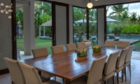 Indoor Dining Area with Pool View - Seseh Beach Villa 2 - Seseh, Bali