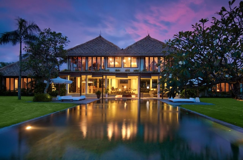 Pool at Night - Shalimar Villas - Seseh, Bali