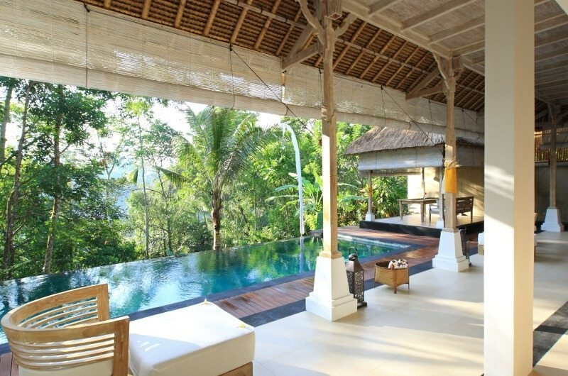 Pool Side Seating Area - Shamballa Residence - Ubud, Bali