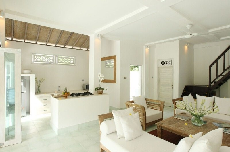 Living Area with Up Stairs - Shamballa Moon - Ubud, Bali