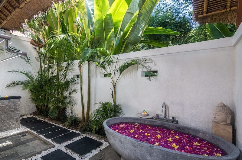 Romantic Bathtub Set Up - Shamballa Residence - Ubud, Bali