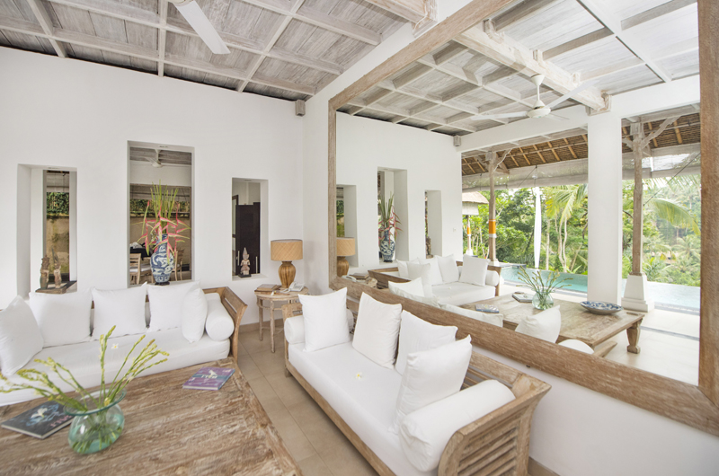 Living Area with Mirror - Shamballa Residence - Ubud, Bali