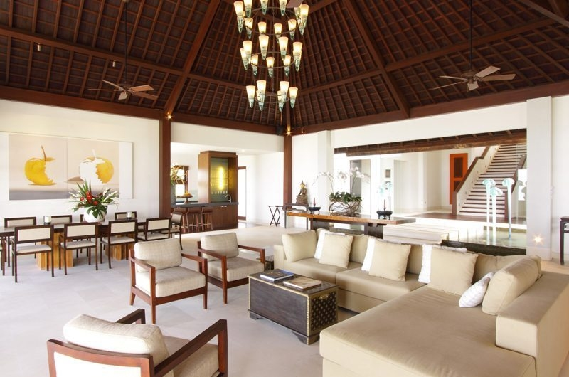 Indoor Living and Dining Area - Sinaran Surga - Uluwatu, Bali