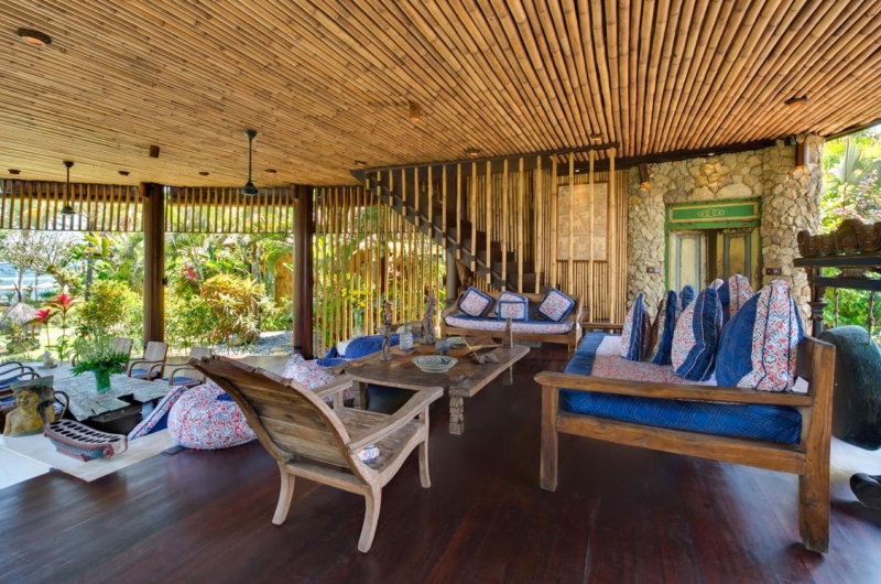 Living Area with Wooden Floor - Taman Ahimsa - Seseh, Bali