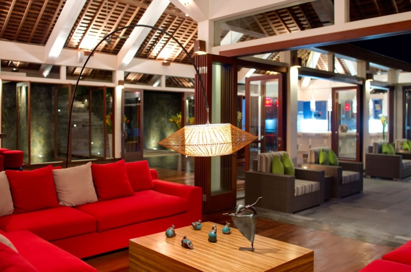 Living Area at Night - The Arsana Estate - Tabanan, Bali