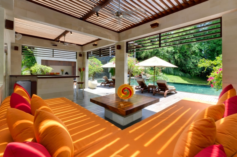 Living Area with Pool View - The Arsana Estate - Tabanan, Bali