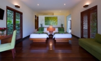 Twin Bedroom with Study Table - The Arsana Estate - Tabanan, Bali