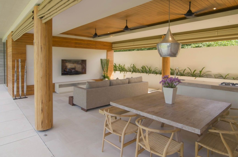 Living and Dining Area with View - The Iman Villa - Pererenan, Bali