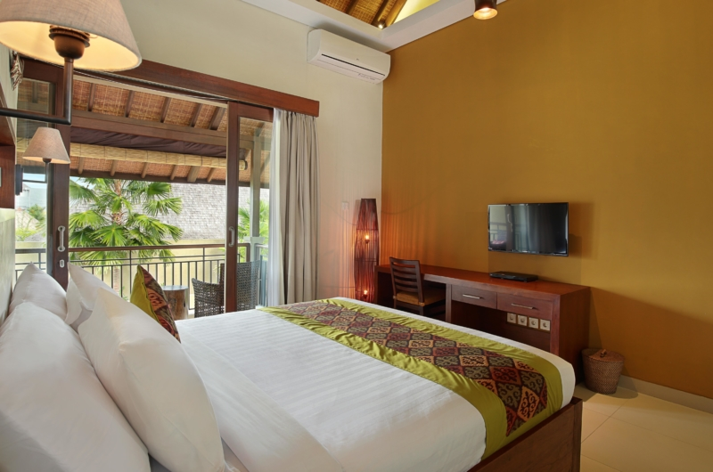 Bedroom with TV - The Kumpi Villas - Seminyak, Bali