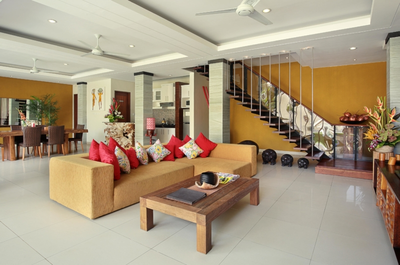 Living Area with TV - The Kumpi Villas - Seminyak, Bali