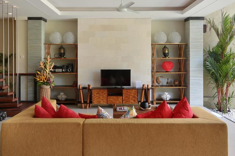 Lounge Area with TV - The Kumpi Villas - Seminyak, Bali