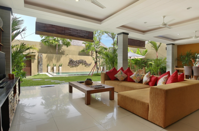 Living Area with Pool View - The Kumpi Villas - Seminyak, Bali