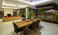 Living and Dining Area at Night - The Kumpi Villas - Seminyak, Bali