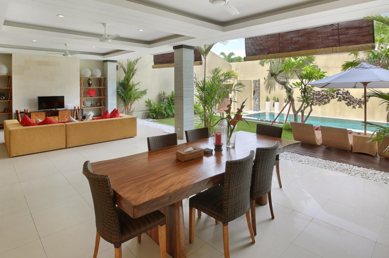 Living and Dining Area - The Kumpi Villas - Seminyak, Bali