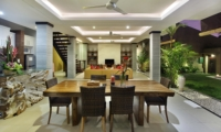 Indoor Living and Dining Area - The Kumpi Villas - Seminyak, Bali